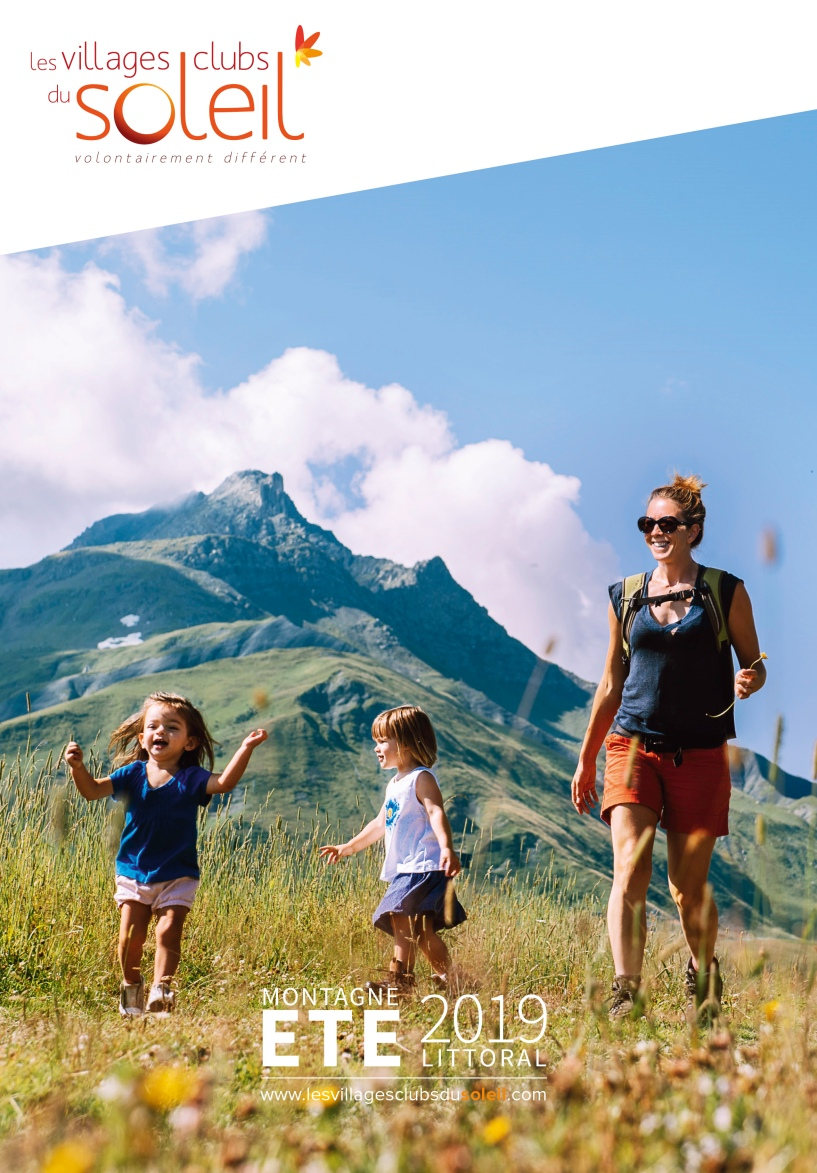 Photo de couverture du catalogue été 2019 des villages clubs du soleil.